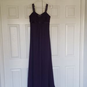 Simple Elegance! Gorgeous plum formal gown.